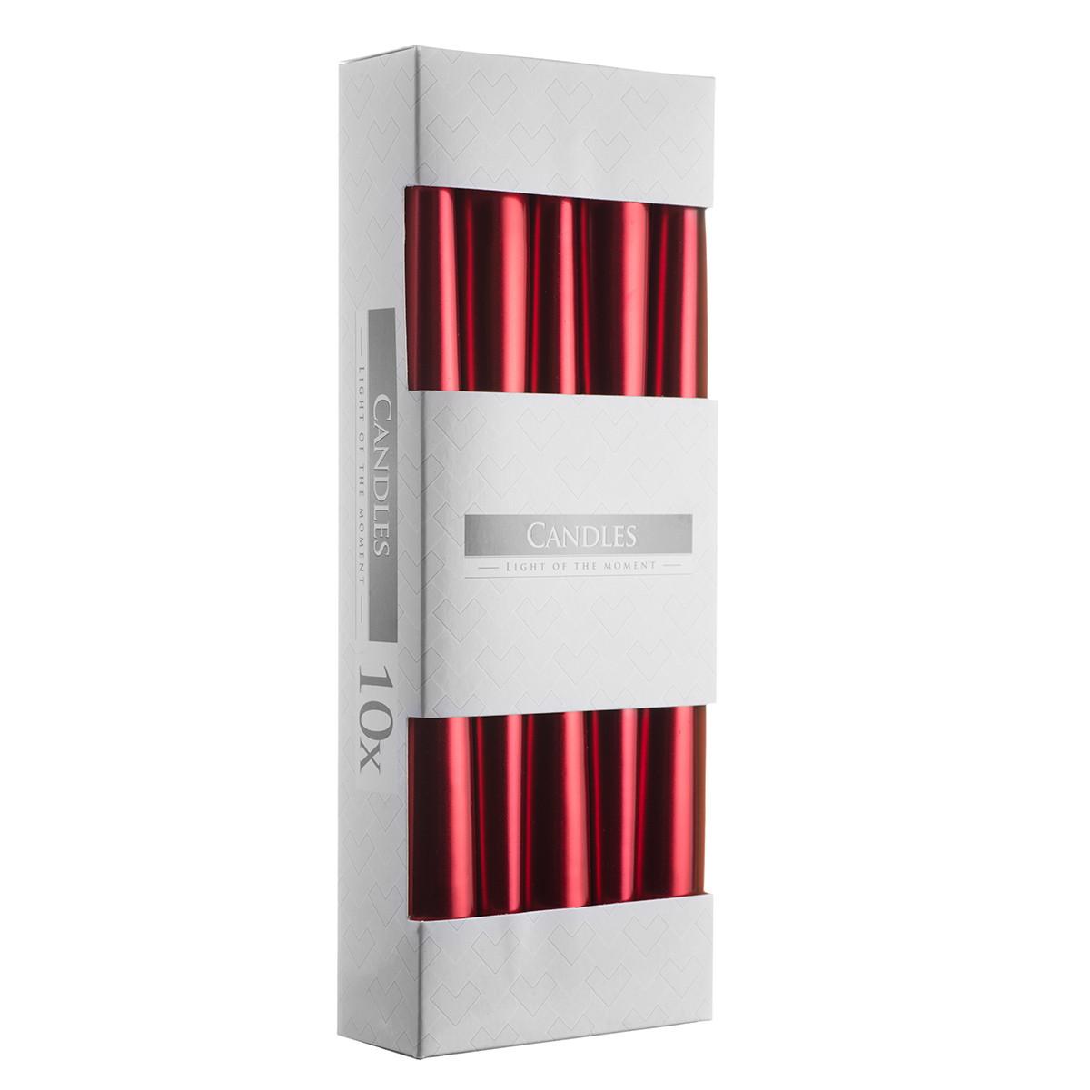 Свеча коническая  Bispol 24,5 см 10 шт (s30-230)