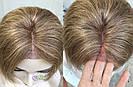 💥 Парик русый на сетке из натуральных волос, стрижка каскад 💥, фото 2