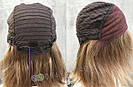 💥 Парик русый на сетке из натуральных волос, стрижка каскад 💥, фото 7