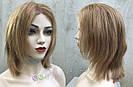 💥 Парик русый на сетке из натуральных волос, стрижка каскад 💥, фото 5