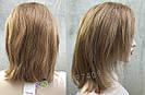 💥 Парик русый на сетке из натуральных волос, стрижка каскад 💥, фото 4