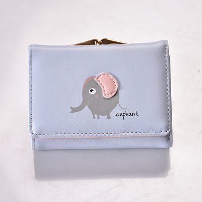 Голубой кошелек с изображением слона