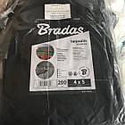 Тент Bradas темно-серый тарпаулин  200 гр/м², размер 6х8м, фото 5