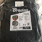Тент Bradas темно-сірий тарпаулін 200 гр/м2, розмір 3х4м, фото 5
