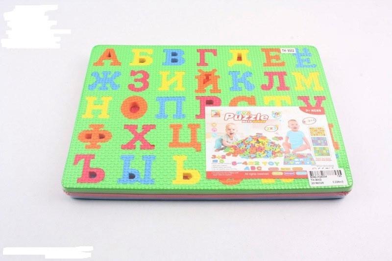 Пазлы фомовые, русские буквы, 2 пластины, 30х21х2см (TH-9002)