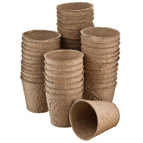 Торфяные стаканчики диаметр 8 см, высота 8, круглые JIFFY POT