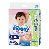 Подгузник Moony M (6-11 кг) 78 шт (4903111282647)