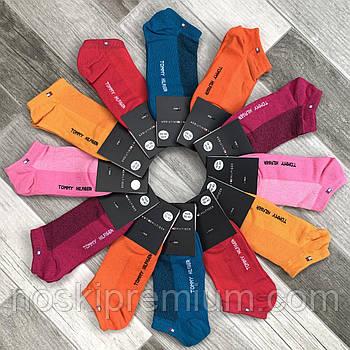 Носки женские спортивные короткие х/б с сеткой Tommy Hilfiger, Турция, 36-40 размер, ассорти, 04750