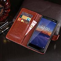 Чехол Idewei для Nokia 3.1 книжка кожа PU коричневый