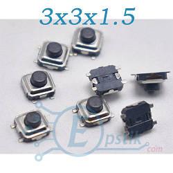 Кнопка тактовая, 3x3x1.5 мм., 4pin, TS-1233