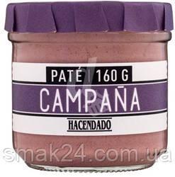 """Паштет без глютену зі свинячої печінки """"Сільський дзвін"""" Pate Campana Hacendado 160г Іспанія"""