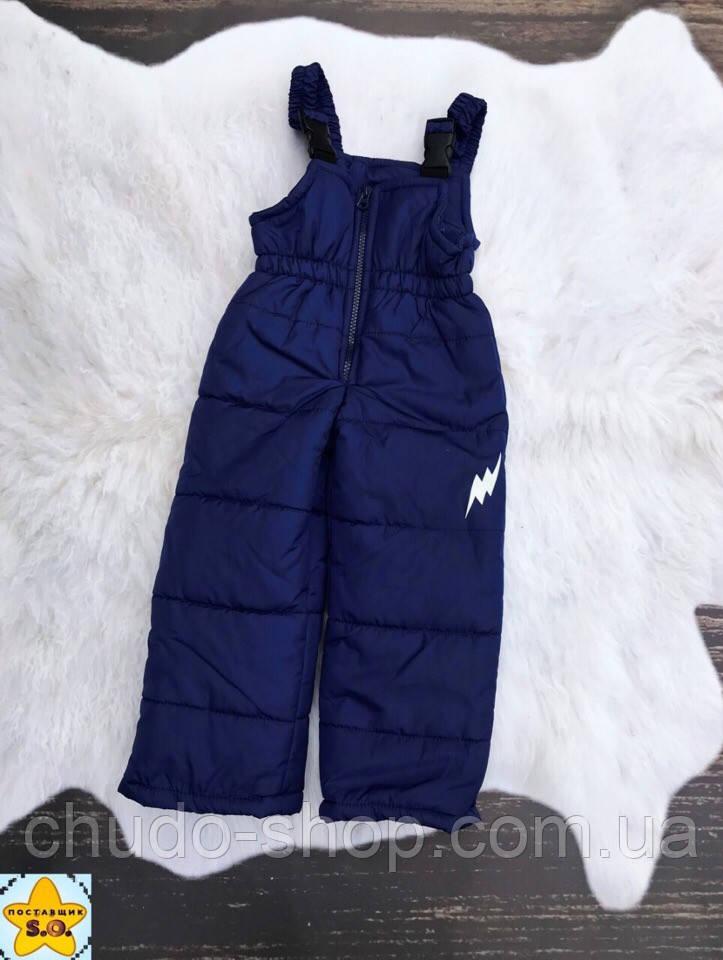 Зимний полукомбинезон Темно-синий (размеры 86-104 см)