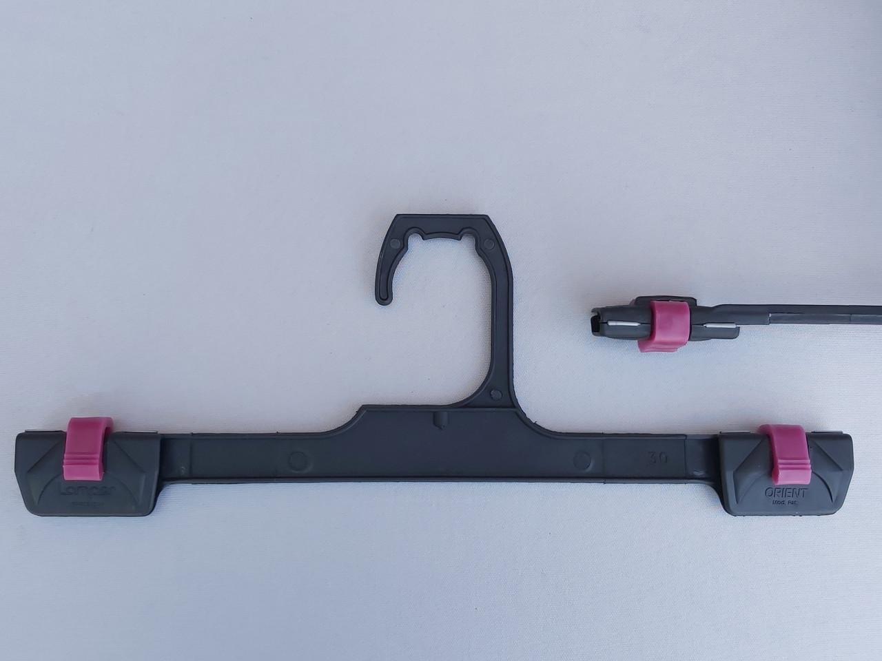 V-Bclick30для брюк и юбок черногоцвета с фиксатором сиреневого цвета, длина 30см.
