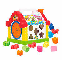 Игрушка Hola Toys Веселый домик сортер для развития мелкой моторики памяти и логики (739)