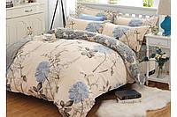 Постельное белье, евро комплект, нежное постельное белье, постельное белье с цветами, ГЕРБЕРА