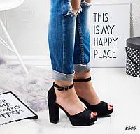 Женские стильные босоножки черные, фото 1
