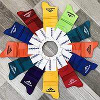 Носки мужские спортивные х/б с сеткой средние Adidas, Германия, 41-45 размер, ассорти, 12654