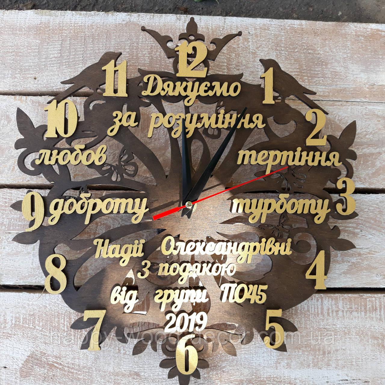 Подарок настенные часы поздравление