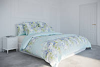 Постельное белье, евро комплект, нежное постельное белье, постельное белье с цветами, полевые цветы