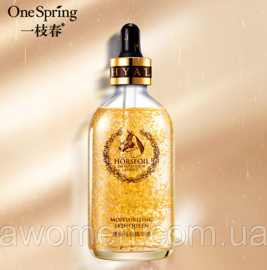 Сыворотка One Spring Gold Horse Oil Skin Care 100 ml