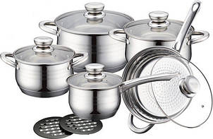 Набор кухонной посуды 10в 1 Royalty Line RL-12323кастрюли, сотейник, сковорода