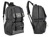 Рюкзак великий мішковина чорний, фото 2