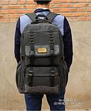 Рюкзак великий мішковина чорний, фото 3