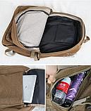Рюкзак великий мішковина чорний, фото 4