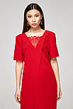 2319 платье Аманда, красный (S), фото 2