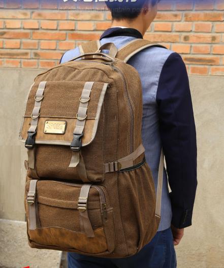 Рюкзак великий мішковина коричневий