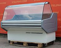 Холодильная витрина гастрономическая «Cold W14G» 1.5 м. (Польша), Широкая выкладка 70 см., Б/у, фото 1