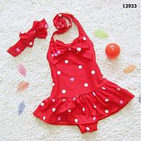 Купальник с повязкой для девочки.  3-4;  5-6 лет, фото 1