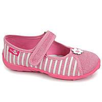 Тапочки-мокасины для девочек с кожаными стельками Renbut 32 (20,3 см) , фото 1