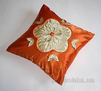 Декоративная наволочка Alltex атлас Цветок 45х45 см
