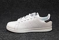 Кроссовки  женские Adidas Stan Smith  бело-синие (р.37)