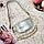 Сумка женская из натуральной кожи маленькая серебряная 015, фото 6