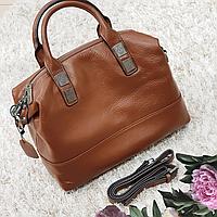 Женская рыжая сумочка из натуральной кожи, фото 1