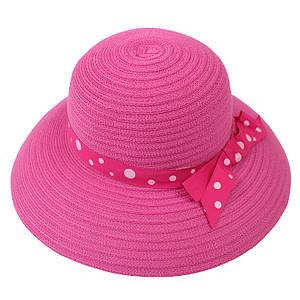 Пляжная женская шляпа с ленточкой в горошек маленькая 131573