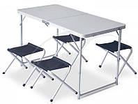 Набор мебели Pinguin SET TABLE + 4 STOOLS PETROL