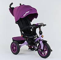 Детский трёхколёсный велосипед 9500 - 2518 Best Trike Фиолетовый, поворотное сиденье, складной руль