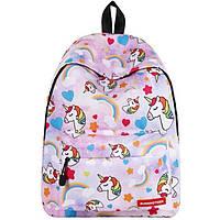 Школьный рюкзак с единорогом Unicorn light pink
