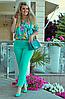 Летний костюм в яркой расцветке, с 48-54 размер