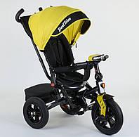 Детский трёхколёсный велосипед 9500 - 8225 Best Trike Желтый, поворотное сиденье, складной руль
