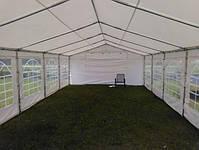 Шатер 6х12 PE полипропилен, торговый павильон, садовая палатка, тент, ангар, гараж, намет, зонт с окнами, фото 8