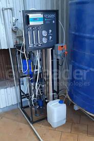 Система обратного осмоса 500л/час, система пропорционального дозирования для молочного комбината