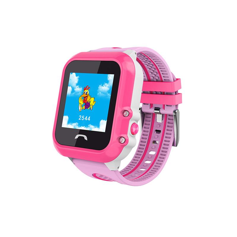 "Дитячий розумний годинник SUNROZ DF27 смарт-годинник 1.22"" GPS Рожевий (SUN4546)"