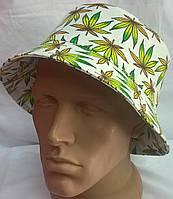 Панама летняя из хлопка белая с зеленым, Westoncap, 56 размер