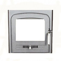 "Дверцы для камина печи барбекю ""Koza 2"" 370х460 мм. Печная дверца со стеклом"