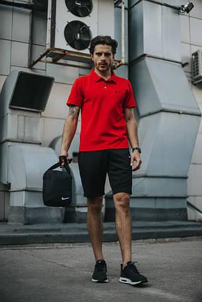 Костюм Футболка Поло красная + Шорты.  Барсетка в подарок! Nike (Найк), фото 2