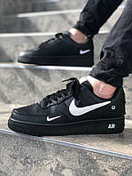 Мужские кроссовки Nike Air Force Balck\Чоловічі кросівки Найк Аір Форс Чорні\Найк Аир Форс Черные